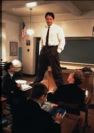 rw standing on desks